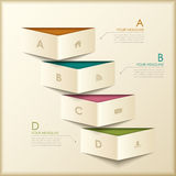 Abstract 3d origami banner infographics. Modern vector abstract 3d origami banner infographic elements Royalty Free Stock Photos