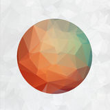 Abstract 2d origami circle vector background Stock Photos