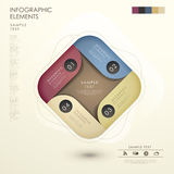 Abstract 3d origami infographics. Modern vector abstract 3d origami infographic elements stock illustration