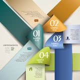 Abstract 3d origami paper infographics. Abstract 3d origami paper infographic elements Royalty Free Stock Image