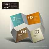 Abstract 3d origami paper infographics Stock Photos