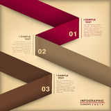 Abstract 3d origami paper infographics Stock Photography