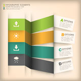 Abstract 3d origami paper infographics Royalty Free Stock Photography