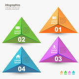 Abstract 3d origami paper infographics. Vector abstract 3d origami paper infographics. can be used for workflow layout, diagram, number options, web design Royalty Free Stock Image