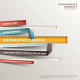 Abstract 3d origami paper infographics Stock Photo