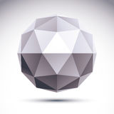Abstract 3D origami polygonal object, vector geometric design el. Ement, clear eps 8 vector illustration