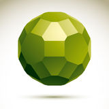 Abstract 3D origami polygonal object, vector Royalty Free Stock Photography