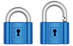 Abstract 3d padlock. Isolated on white background Royalty Free Stock Photo