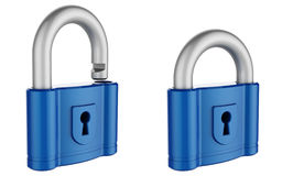 Abstract 3d padlock. Isolated on white background Stock Photo