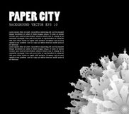 Abstract 3D Paper City background. With text for your design, vector illustration stock illustration