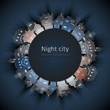 Abstract 3D Paper City background. Vector illustration royalty free illustration