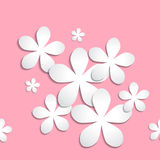 Abstract 3d paper flower pattern pink background Royalty Free Stock Photo