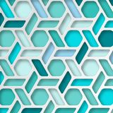 Abstract 3D Paper Graphics. Abstract 3D Paper blue background. Vector illustration Stock Photos