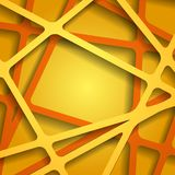 Abstract 3D Paper Graphics. Vector illustration Royalty Free Stock Images