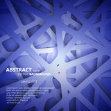 Abstract 3D Paper Graphics. Vector illustration Stock Photography