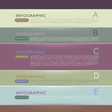 Abstract 3d paper infographic elements Stock Photography