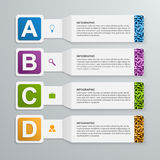 Abstract 3d paper infographic elements. Vector illustration royalty free illustration