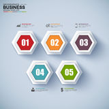 Abstract 3D paper Infographic. EPS10 Royalty Free Stock Photo