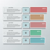 Abstract 3D Paper Infographics color Royalty Free Stock Photo