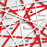 Abstract 3D Paper Infographics. EPS10 Royalty Free Stock Photos