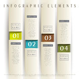 Abstract 3d paper infographics. Realistic vector abstract 3d paper infographic elements Stock Photography