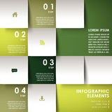 Abstract 3d paper infographics. Realistic vector abstract 3d paper infographic elements Stock Images