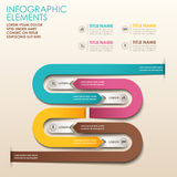 Abstract 3d paper infographics. Realistic vector abstract 3d paper infographic elements royalty free illustration