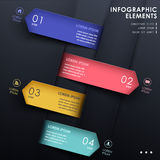 Abstract 3d paper infographics. Realistic vector abstract 3d paper infographic elements Royalty Free Stock Photo