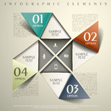 Abstract 3d paper infographics. Realistic vector abstract 3d paper infographic elements Stock Photo