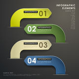Abstract 3d paper infographics. Realistic vector abstract 3d paper infographic elements stock illustration