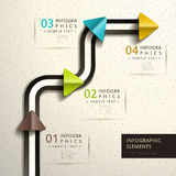 Abstract 3d paper infographics. Realistic vector abstract 3d paper infographic elements Royalty Free Stock Photos