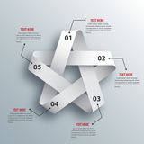 Abstract 3D Paper Infographics. Star shape. Vector illustration Royalty Free Stock Images