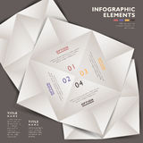 Abstract 3d paper infographics. Vector abstract 3d paper infographics. can be used for workflow layout, diagram, number options, web design Royalty Free Stock Photography