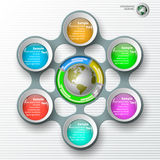 Abstract 3D Paper Infographics. Vector abstract 3d paper colorful infographic elements Royalty Free Stock Photo