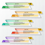 Abstract 3D Paper Infographics. Vector abstract 3d paper colorful infographic elements royalty free illustration