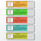 Abstract 3D Paper Infographics. Vector abstract 3d paper colorful infographic elements Royalty Free Stock Photos