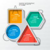Abstract 3D Paper Infographics. Vector abstract 3d paper colorful infographic elements Royalty Free Stock Images