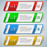 Abstract 3D Paper Infographics. Vector abstract 3d paper colorful infographic elements Stock Photography