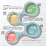 Abstract 3D Paper Infographics. Vector abstract 3d paper colorful infographic elements Royalty Free Stock Photography