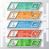 Abstract 3D Paper Infographics. Vector abstract 3d paper colorful infographic elements Stock Image