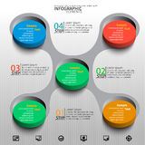 Abstract 3D Paper Infographics. Vector abstract 3d paper colorful infographic elements stock illustration