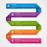 Abstract 3D Paper Infographics. Vector illustration Stock Photos