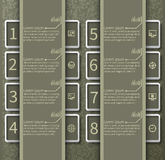 Abstract 3D Paper Infographics Stock Images