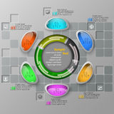 Abstract 3D Paper Infographics. Vector abstract 3d paper infographic elements Vector Illustration