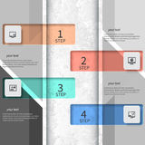 Abstract 3D Paper Infographics Royalty Free Stock Image