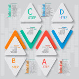 Abstract 3D Paper Infographics. Vector abstract 3d paper infographic elements Royalty Free Stock Images
