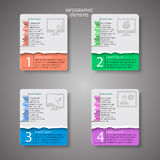 Abstract 3D Paper Infographics Royalty Free Stock Photography
