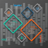 Abstract 3D Paper Infographics. Vector abstract 3d paper infographic elements Royalty Free Illustration