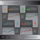 Abstract 3D Paper Infographics. Vector abstract 3d paper infographic elements Stock Illustration