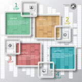 Abstract 3D Paper Infographics Royalty Free Stock Photo